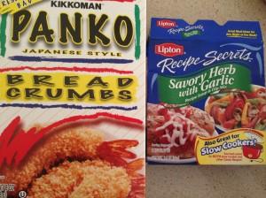 Breaded chicken ingredients