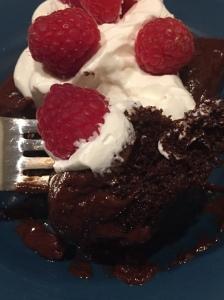 chocolate cake & silky ganache
