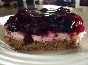 Slice of blueberry