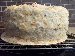 Toasted Coconut Cream Cake