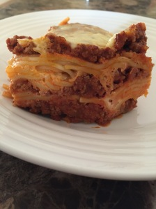 Back side of spaghetti pie