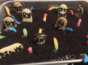 Halloween Graveyard Dessert