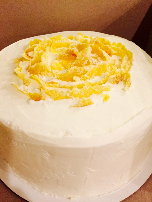 Lemon Cake candied lemons