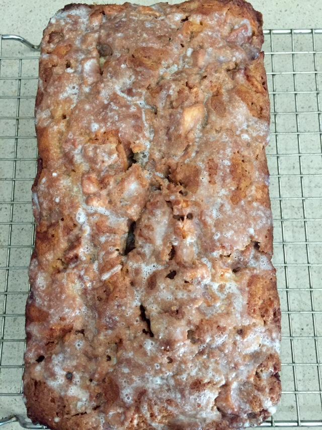 Top view - apple fritter bread