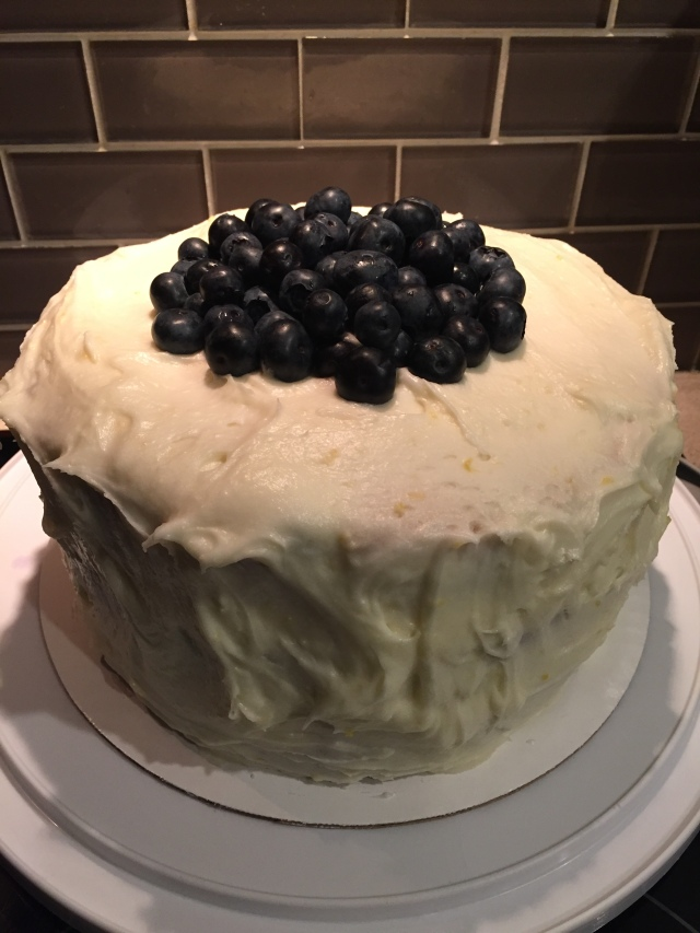 Whole lemon blueberry cake