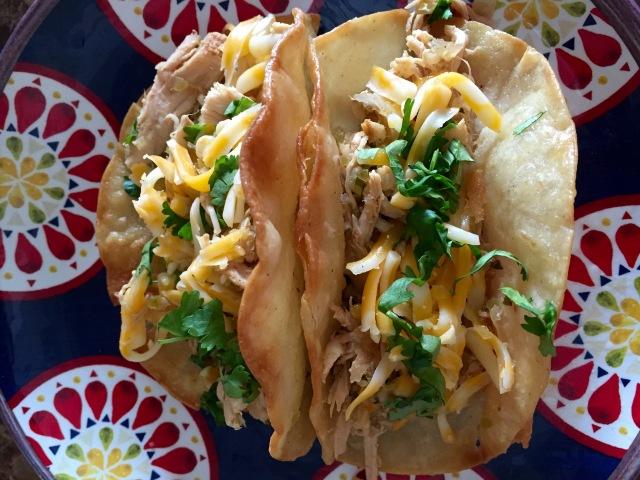 Salsa Verde Chicken Tacos