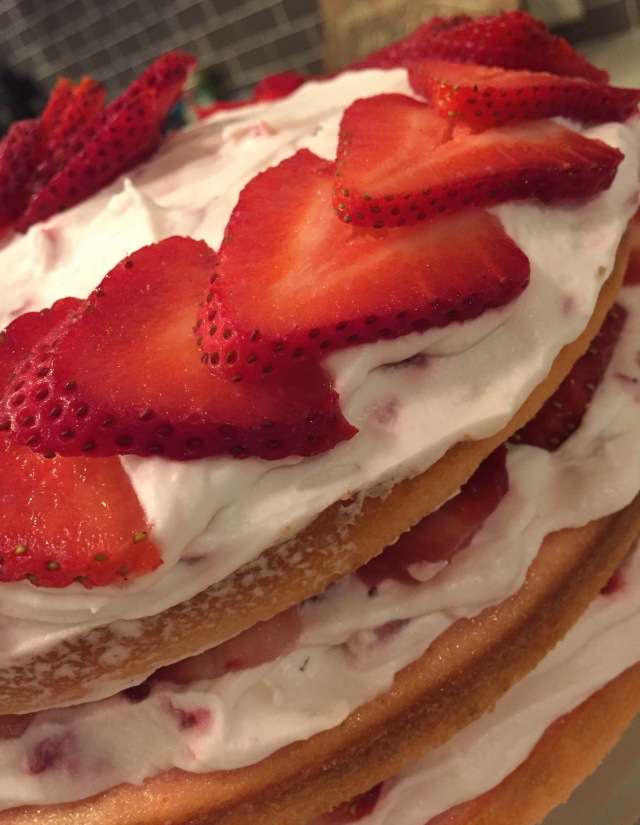 Side Strawberry Cake
